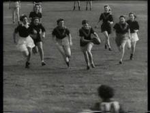 1943 Women demonstrate Aussie Rules Football